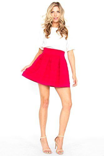If you're a fan of our Statement Stripe Skirt, then you will equally love this Sugarlips Pink Statement Skirt. Thick and structured high waist skirt with inverted pleats. Exposed zipper closure on back. Price : $59.00 #MyLuluCloset #Sugarlips #NewArrivals
