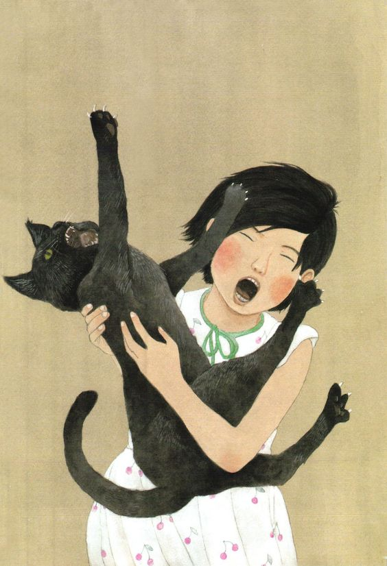 Anyone have a relationship with their cat like this? One of my cats just hates to be held but my other cat love to be! Lol