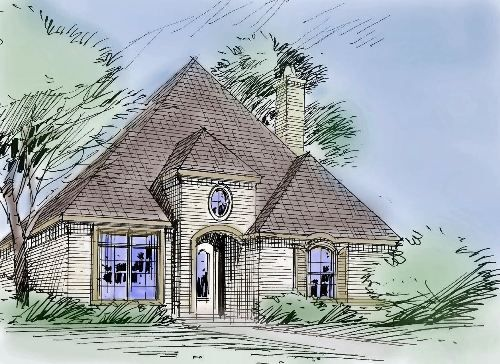 This Country Style One Story House Plan Is Perfect For A