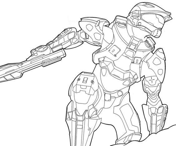 Dibujos para colorear de halo reach coloriage augustin for Halo master chief coloring pages