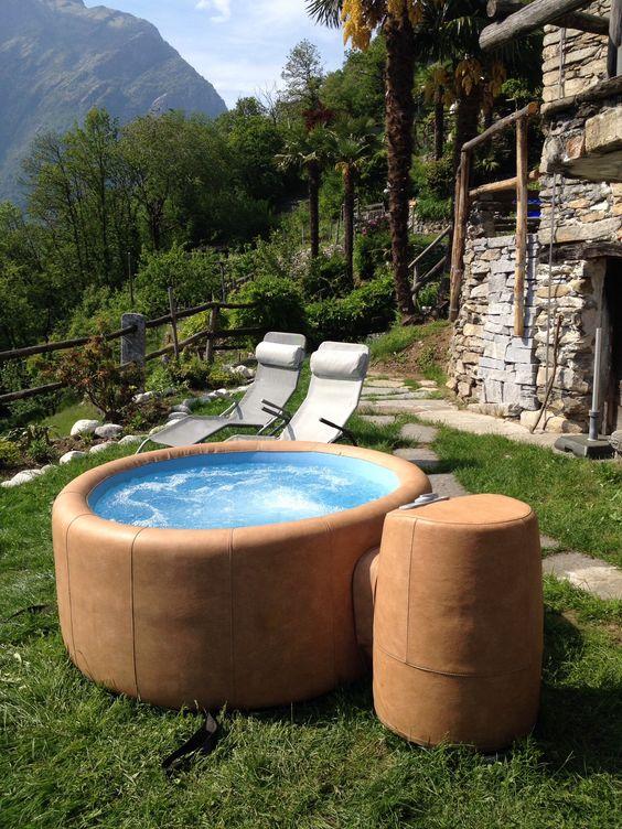 Rustico PerDue mit Softub (Whirlpool) wwwlasertach Garten Pool - whirlpool sichtschutz