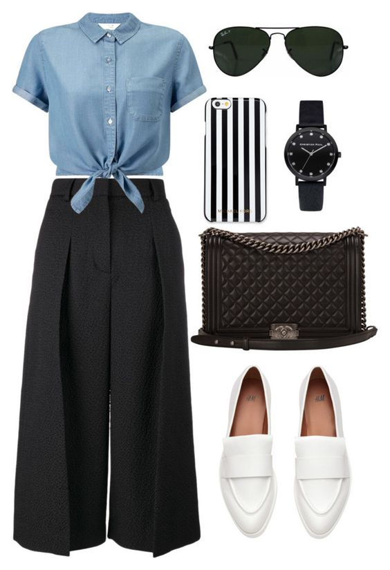 """""""Seventy Four"""" by yumizingapan on Polyvore featuring Erdem, Miss Selfridge, Chanel, MICHAEL Michael Kors and Ray-Ban"""