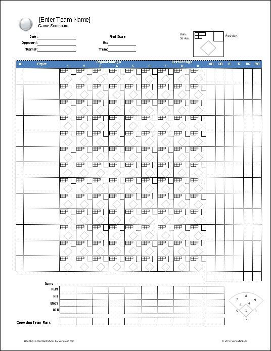 Download a free Baseball Roster Template for Excel featuring a – Free Roster Template