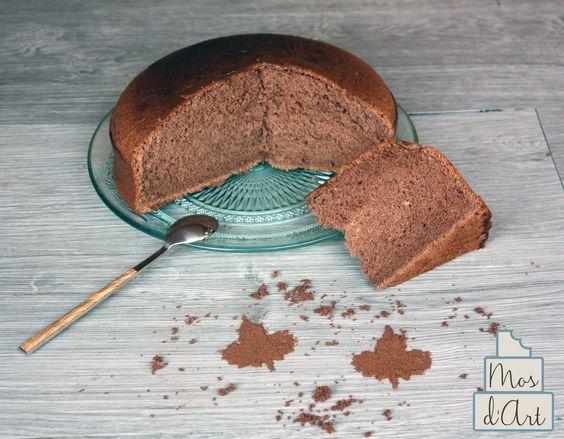 Bizcocho de chocolate sin levadura