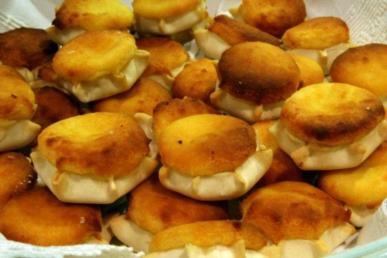 sweets small cakes filled with ricotta cheese o pecorino cheese ...