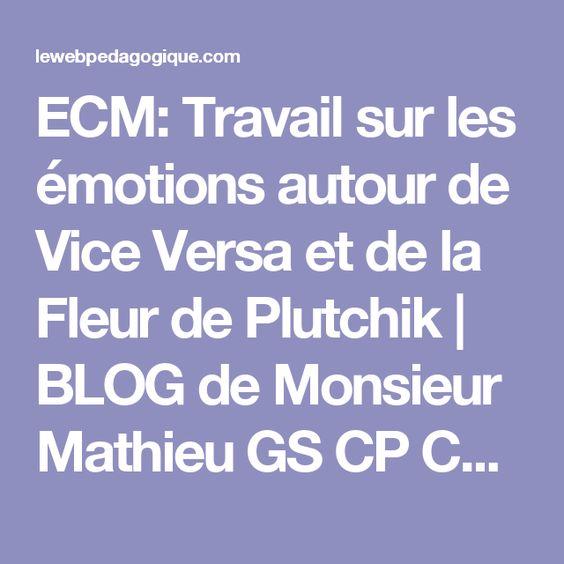 ECM: Travail sur les émotions autour de Vice Versa et de la Fleur de Plutchik | BLOG de Monsieur Mathieu GS CP CE1 CE2