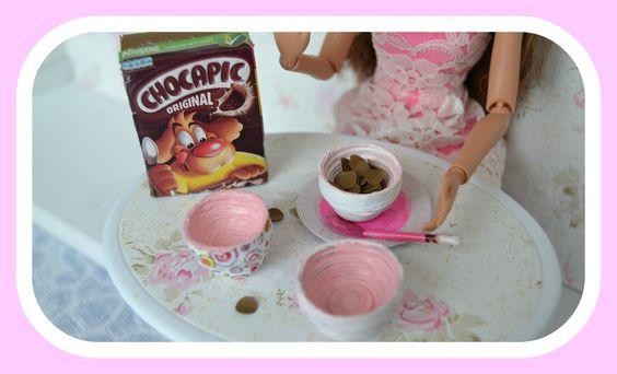 Como fazer taça de cereais para Barbie ♥