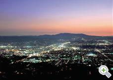 奈良市の夜景
