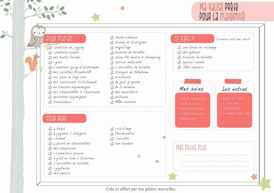 liste de maternit t l charger grossesse pinterest check lists and photos. Black Bedroom Furniture Sets. Home Design Ideas