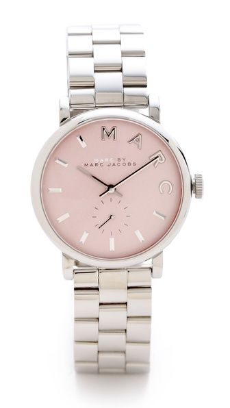 Marc by Marc Jacobs Baker Watch - need this watch to usher in spring! it has a classic style, is oversized (but not too big) and the pastel pink is as pretty as can be.
