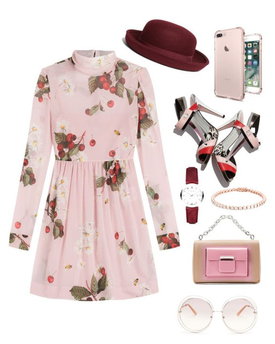 """""""Untitled #240"""" by norhenbijaoiu ❤ liked on Polyvore featuring RED Valentino, Brooks Brothers, Fendi, Chloé, Balenciaga and Burberry"""