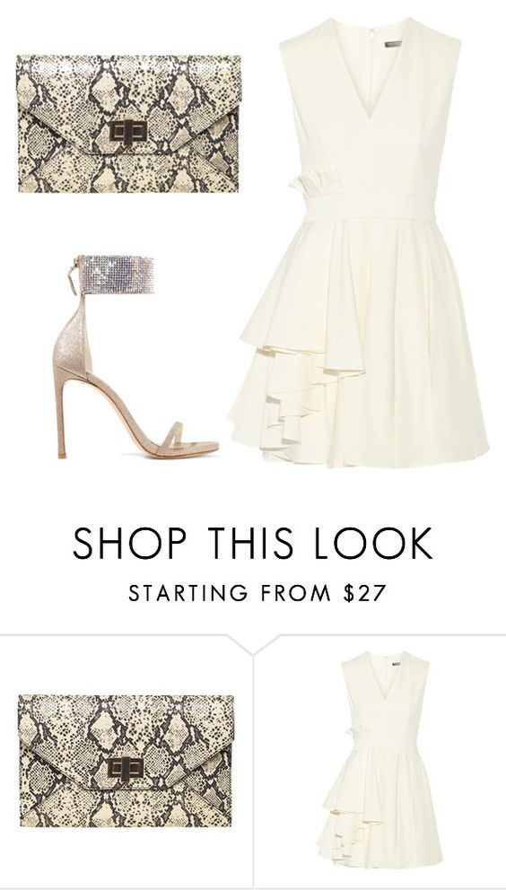 """""""Untitled #664"""" by collettesworldoffashion ❤ liked on Polyvore featuring Dorothy Perkins, Alexander McQueen and Stuart Weitzman"""