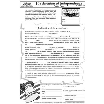 Declaration Of Independence Grievances Worksheet - Templates and ...