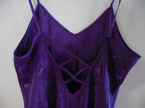 Nightie negligee lingerie spaghetti strap purple lingerie purple negligee plum…
