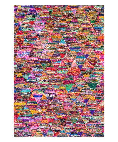 Multicolor Abstract Zina Rug #zulily #zulilyfinds