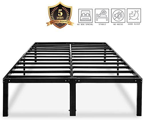 Best Seller Metal Platform Bed Frame Queen Size Heavy Duty 14 Inch
