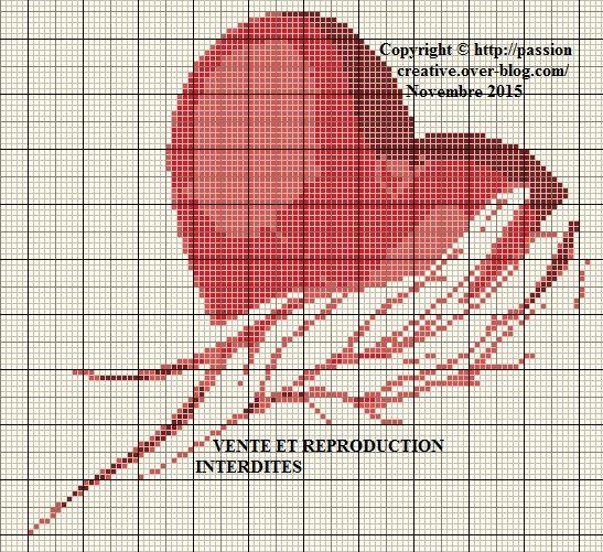 Grille gratuite point de croix coeur rouge dans une main le blog de isabelle point de - Grille point croix gratuite ...