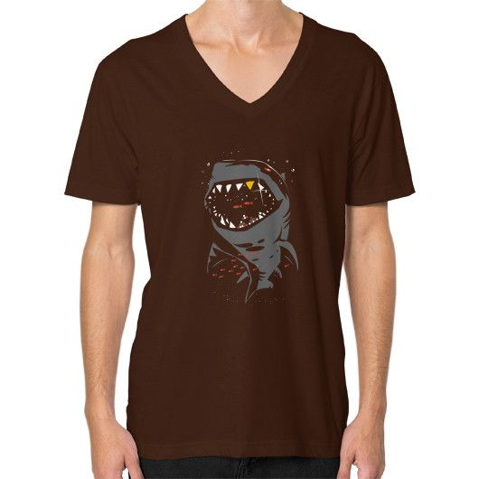 Limited Edition Shark with Pixelated Teeth V-Neck (on man)