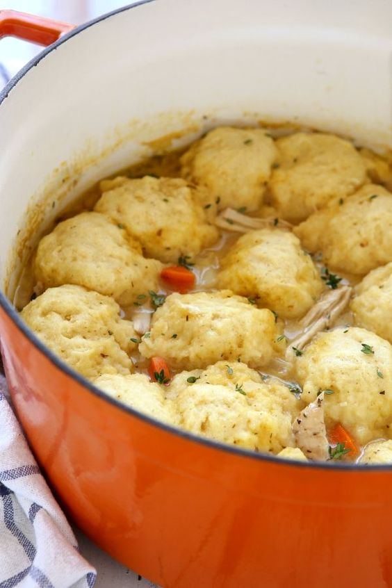 Turkey and Dumplings...Hearty turkey and vegetable soup with fluffy buttermilk dumplings cooked right on top. A great way to use leftover turkey!!