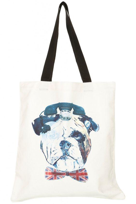 Go Shop Yourself: Topshop English Bulldog tote.