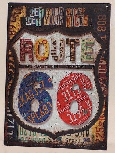 Plaque Route 66 License Plates