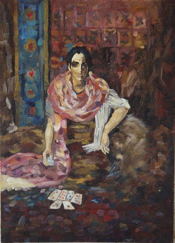 Echadora de cartas Elena Lesnova - Artelista.com www.artelista.com700 × 971Buscar por imagen Echadora de cartas Óleo Lienzo Figura