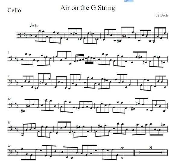 Air On The G String Cello Part Www.theviolinplace.com