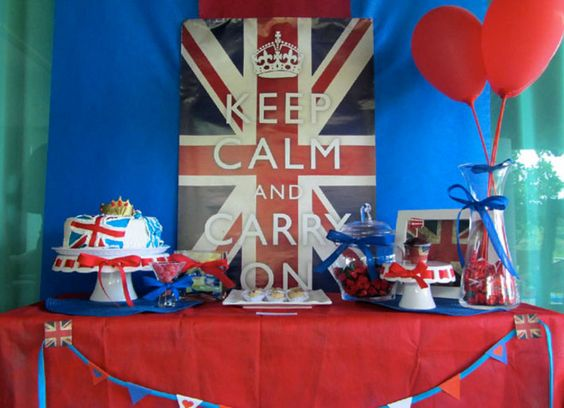 British Empire Themed Party Makes All The Difference Home Theme Ideas Mums Birthday Pinterest Parties