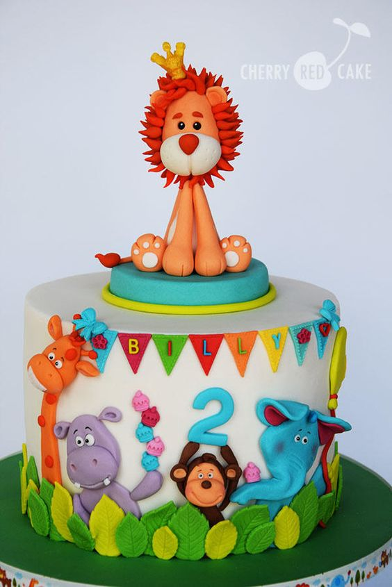 Lion King Cake Decorations Uk : Jungle cake, Lion and Sweet love on Pinterest