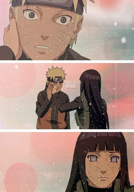"""Thank you, Hinata."" --Naruto ( I hope this is the moment he realizes that he is meant to be with her)"