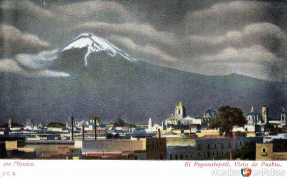 Fotos de Puebla, Puebla, México: El Popocatépetl, visto desde Puebla