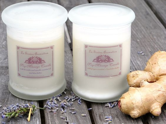 Spa Massage Candles | La Sirène Aromatica