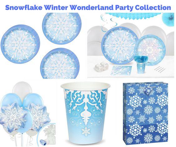 Snowflake Winter Wonderland Party Banner