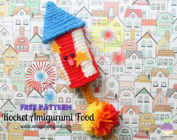 Amigurumi Food: Rocket Amigurumi Food Free Crochet Pattern!!