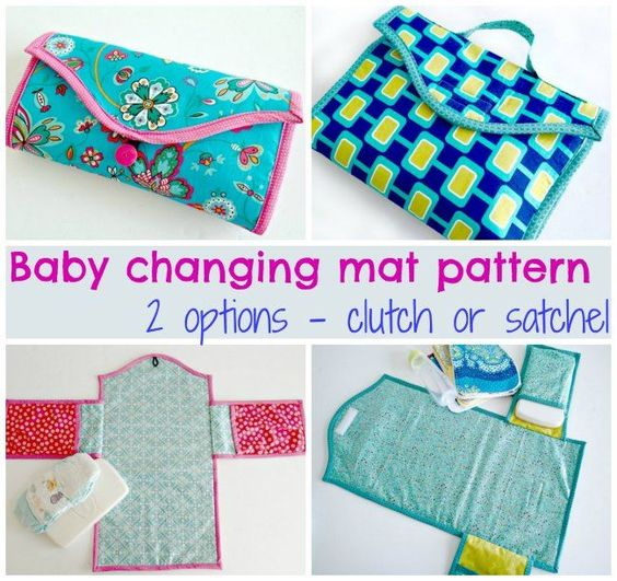 Baby changing mat pattern - two options | Wickeltasche nähen ...