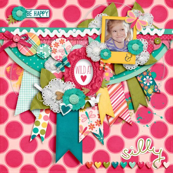 Digital Layout by Janelle Using Whack-A-Doo Digital Scrapbooking Kit by Traci Reed and Robin Carlton