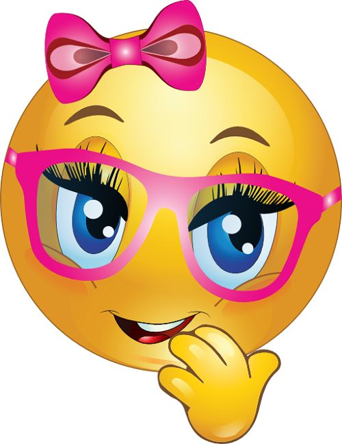 Female Smiley Face With Glasses Emoji Image