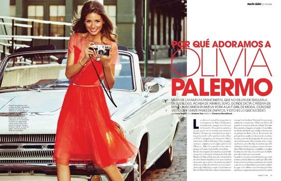 Olivia Palermo Marie Claire Spain  April 2012