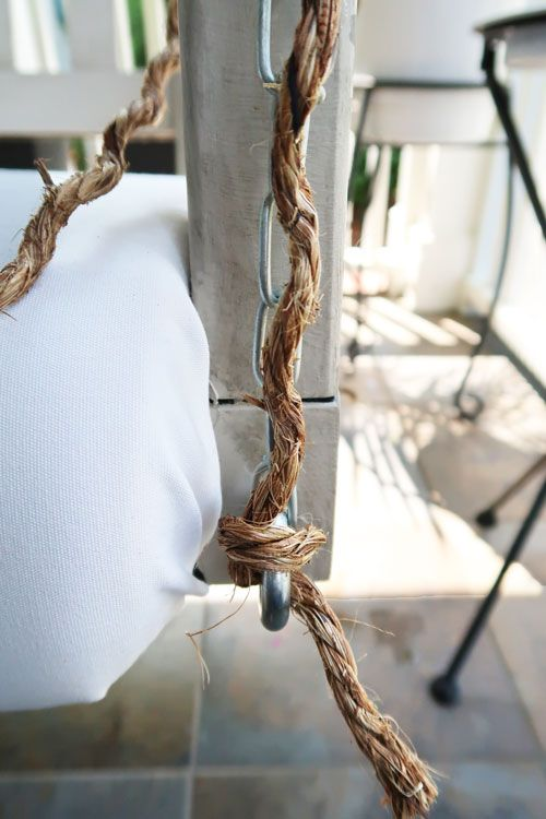 How To Wrap A Porch Swing Chain With Rope Porch Swing Rope Rope Wrapped