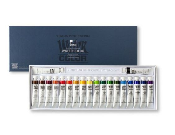 Shinhan Watercolors Artist Paint Tubes Set 20 Colors 12ml Each
