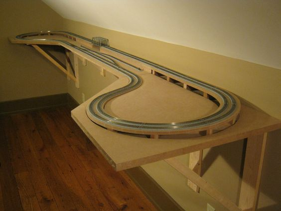 Smith creek designs n scale model railroad shelf layout with kato unitrack design layout and - Ho train layouts for small spaces image ...