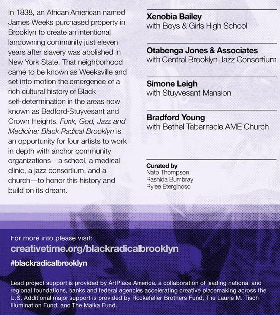 Funk, God, Jazz, and Medicine: Black Radical Brooklyn - September 20 through October 12