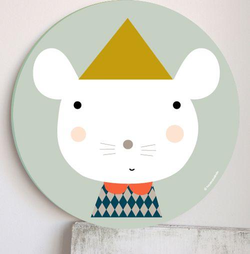 Plakat Myszka w czapce Kalaluszek
