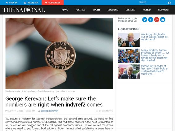 George Kerevan: Let's make sure the numbers are right when indyref2 c…