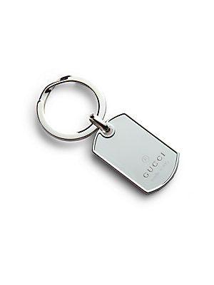 Gucci Dog Tag Key Ring