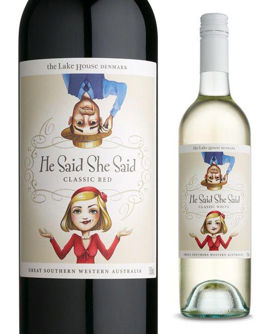 He Said She Said Wine   'Otras 101 etiquetas de botellas de vino... (2ª parte)' by @Recetum