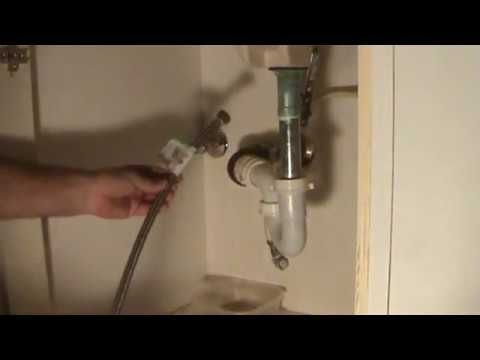 How To Connect A Water Supply Line To A Bathroom Or Kitchen Sink Faucet Kitchen Sink Faucets Kitchen Sink Sink Faucets