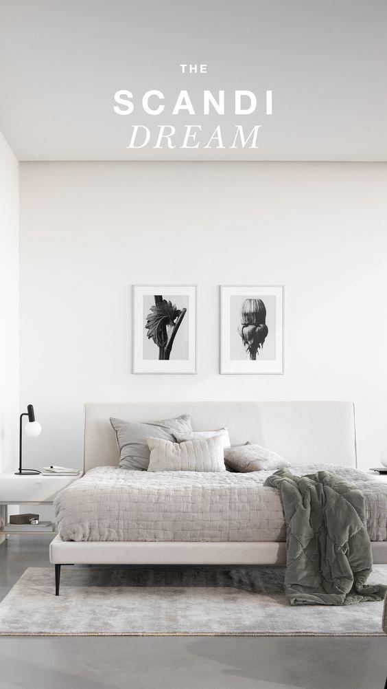 Inspiration For Your Scandinavian Style Bedroom In 2020 Scandinavian Style Bedroom Scandinavian Interior Bedroom Modern Room Design