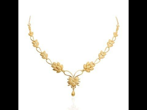 Under 10 Gram Gold Necklaces Designs Youtube Bridal Gold Jewellery Gold Necklace Designs Gold Jewellery Design