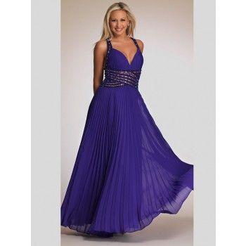 Glamouröse geraffte Abendkleider für mollige Lila mit Trägern